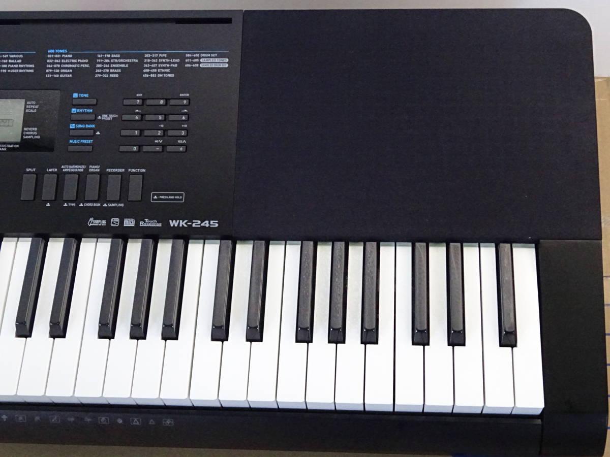 中古 CASIO デジタルキーボード WK-245 76鍵盤 2016年製 本体のみ 電子ピアノ カシオ_画像4