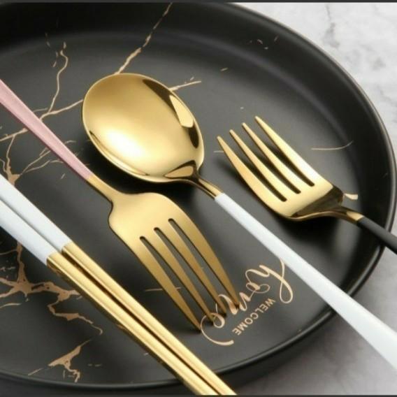 カトラリー 4点セット クチポール風 フォーク ナイフスプーンお箸ステンレス食器