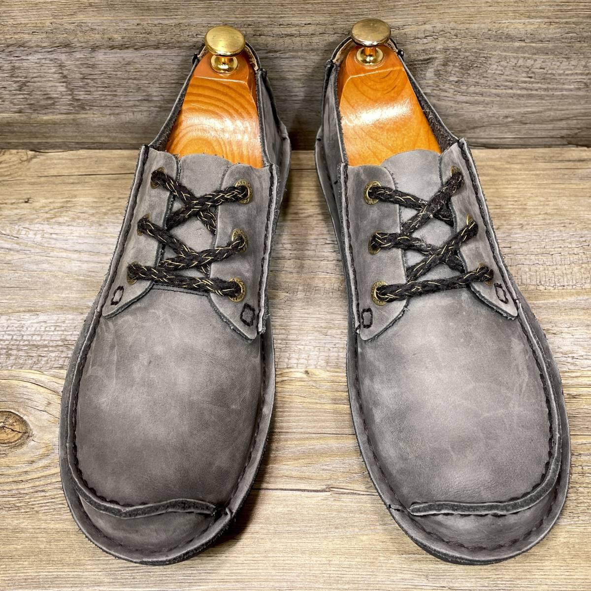 ■Clarks■ 25.5cm UK7 クラークス レザーシューズ モカシン メンズ 靴 革靴 天然皮革 くつ 中古 宅急便 即決_画像2
