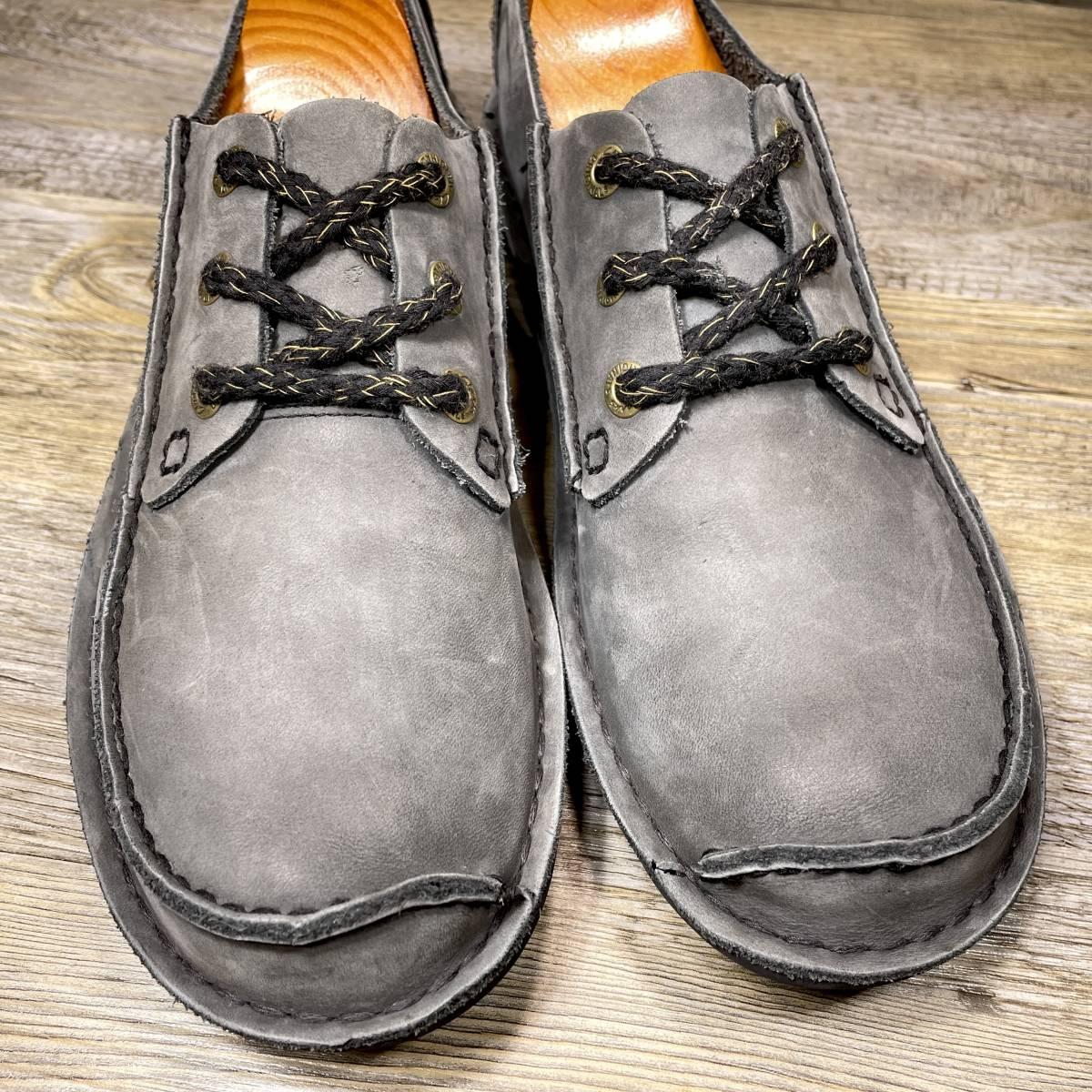 ■Clarks■ 25.5cm UK7 クラークス レザーシューズ モカシン メンズ 靴 革靴 天然皮革 くつ 中古 宅急便 即決_画像4