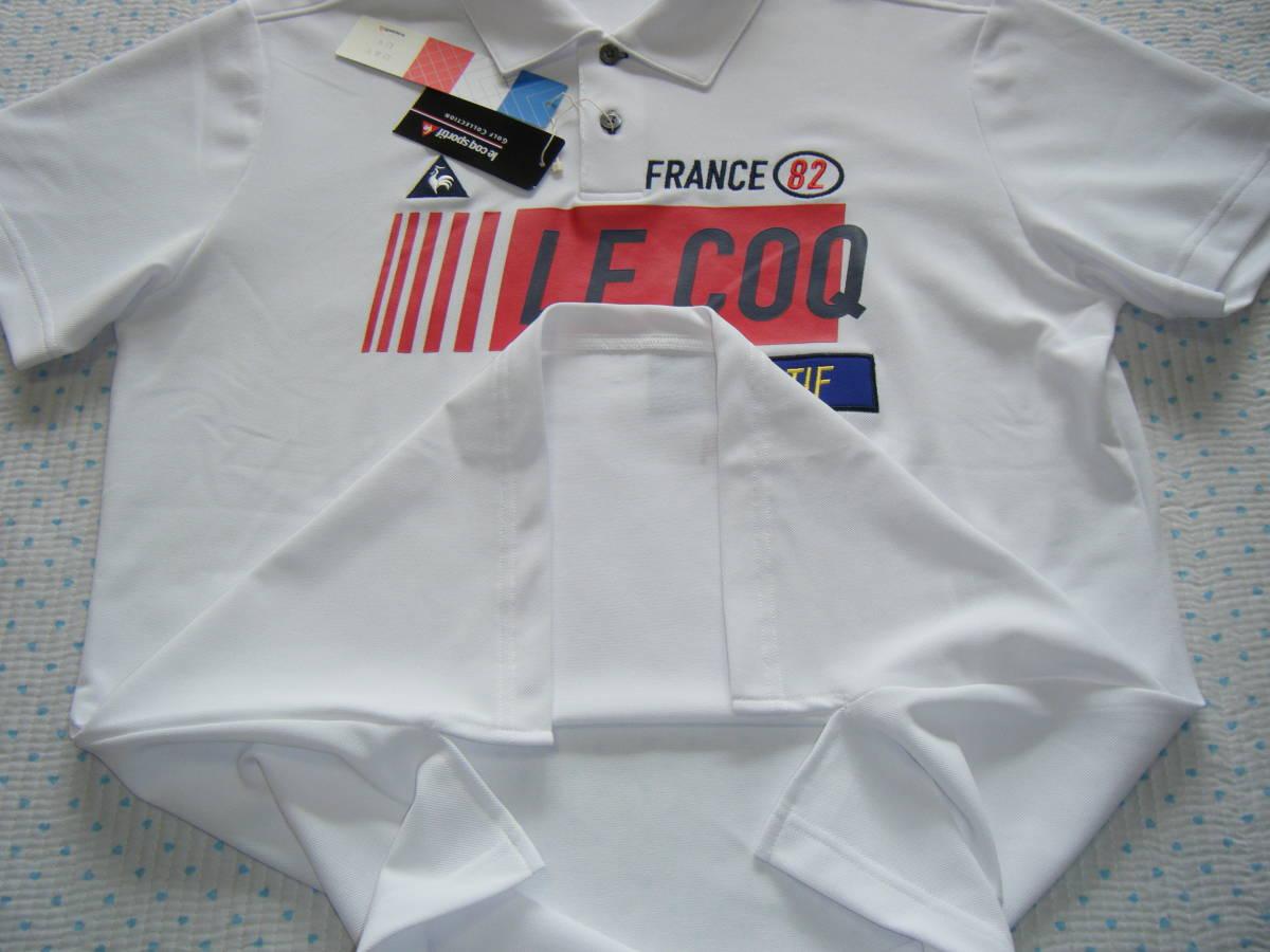 ルコック lecoq FRANCE 82 ゴルフ用高機能/冷感ポロシャツ 白色 サイズ L 吸汗速乾/ストレッチ/UV機能 定価 9,350円_画像5