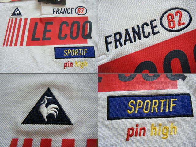 ルコック lecoq FRANCE 82 ゴルフ用高機能/冷感ポロシャツ 白色 サイズ L 吸汗速乾/ストレッチ/UV機能 定価 9,350円_画像7