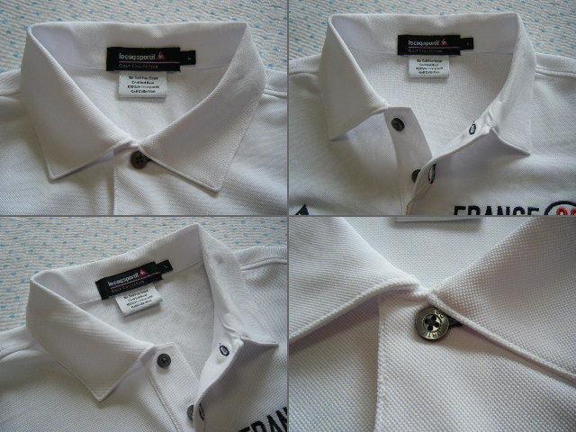 ルコック lecoq FRANCE 82 ゴルフ用高機能/冷感ポロシャツ 白色 サイズ L 吸汗速乾/ストレッチ/UV機能 定価 9,350円_画像6