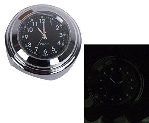 ◎ラスト1点!(Jptop)7/8- 1 オートバイ ハンドルバー ブラック 防水 夜光機能 ホワイト ダイヤル 時計 高級_画像3