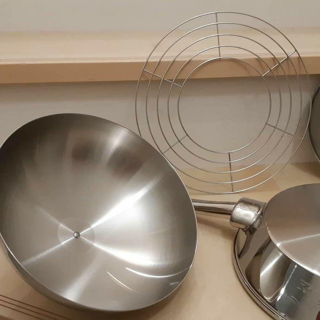 IH対応◆ナチュラルウェア O-Ⅱ クラデックス フライパン 付属品有 蒸し器 天ぷら