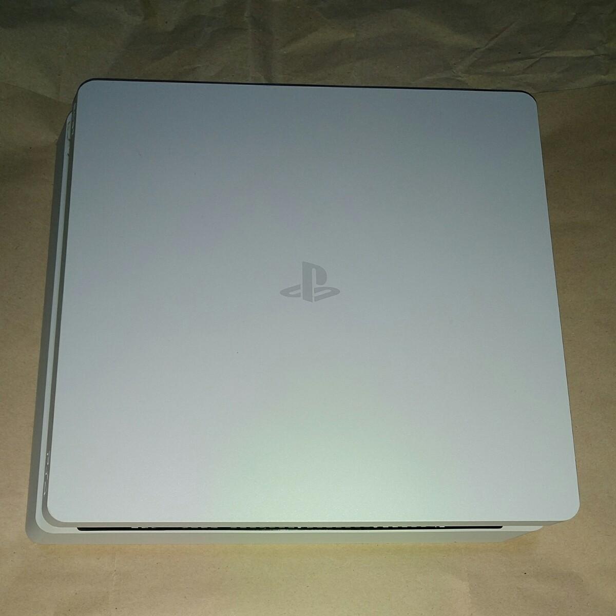 PS4 スリム 動作確認済み PS4本体 白 薄型 グレイシャーホワイト