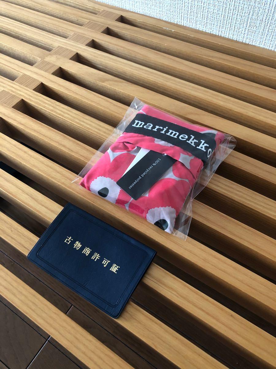 マリメッコ エコバッグ トートバッグ グレー ピンク