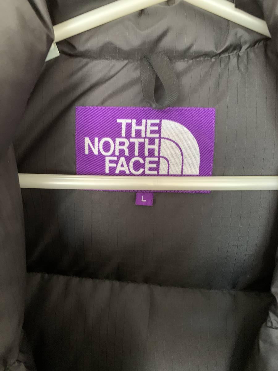 RHC ロンハーマン別注 THE NORTH FACE PURPLE LABEL Polyester Ripstop Stuffed Shirt ブラック L サイズ ノースフェイスパープルレーベル_画像3