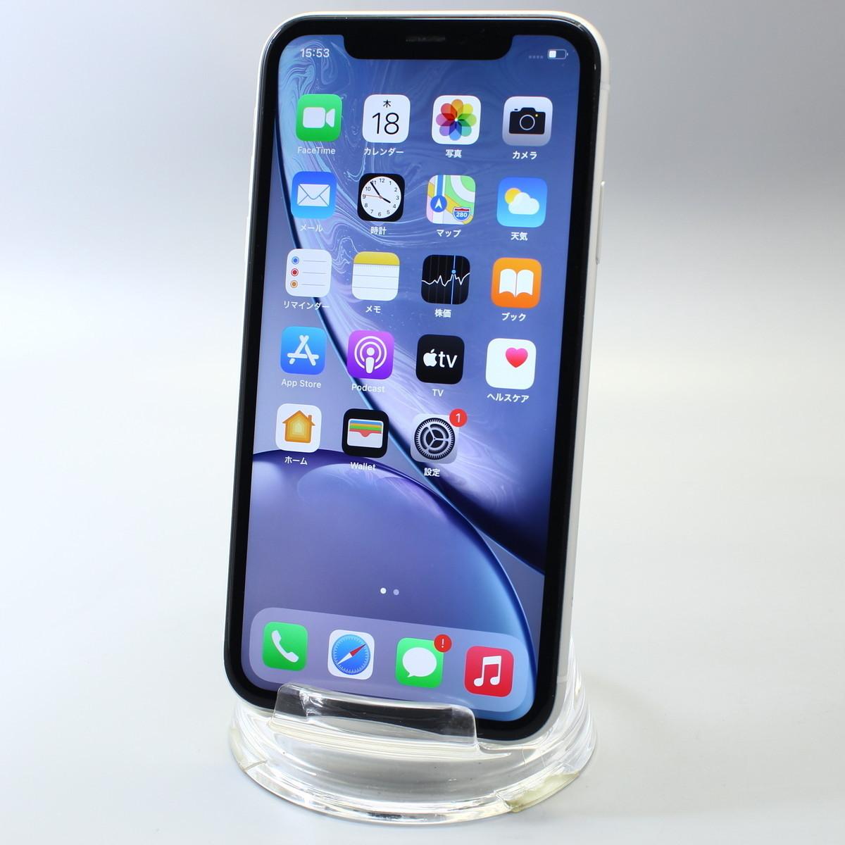 Apple iPhoneXR 128GB ホワイト A2106 MT0J2J/A バッテリ89%■SIMフリー(SIMロック解除済)★Joshin(ジャンク)6785【送料無料?1円】