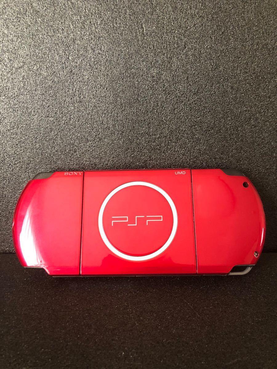 psp3000 レッド バッテリー付き