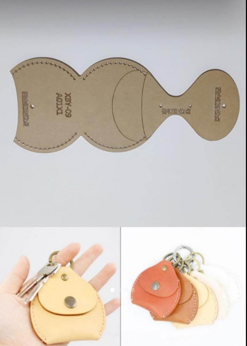 (タッキー様専用)円形 コインケース レザークラフト用アクリル型型紙+小銭入れキーケース型紙