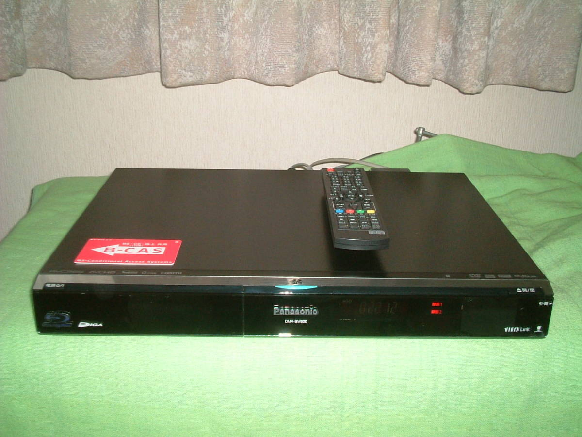 1ヶ月保証 パナソニック DMR-BW800  HDD/DVD/ブルーレイ/レコーダー 2番組同時録画  500GB 新品リモコン  B-CASカード付_画像1