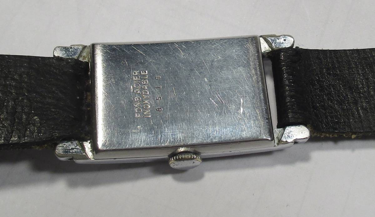☆ クロムケース Pontiac 30年代年代 紳士用腕時計_画像6