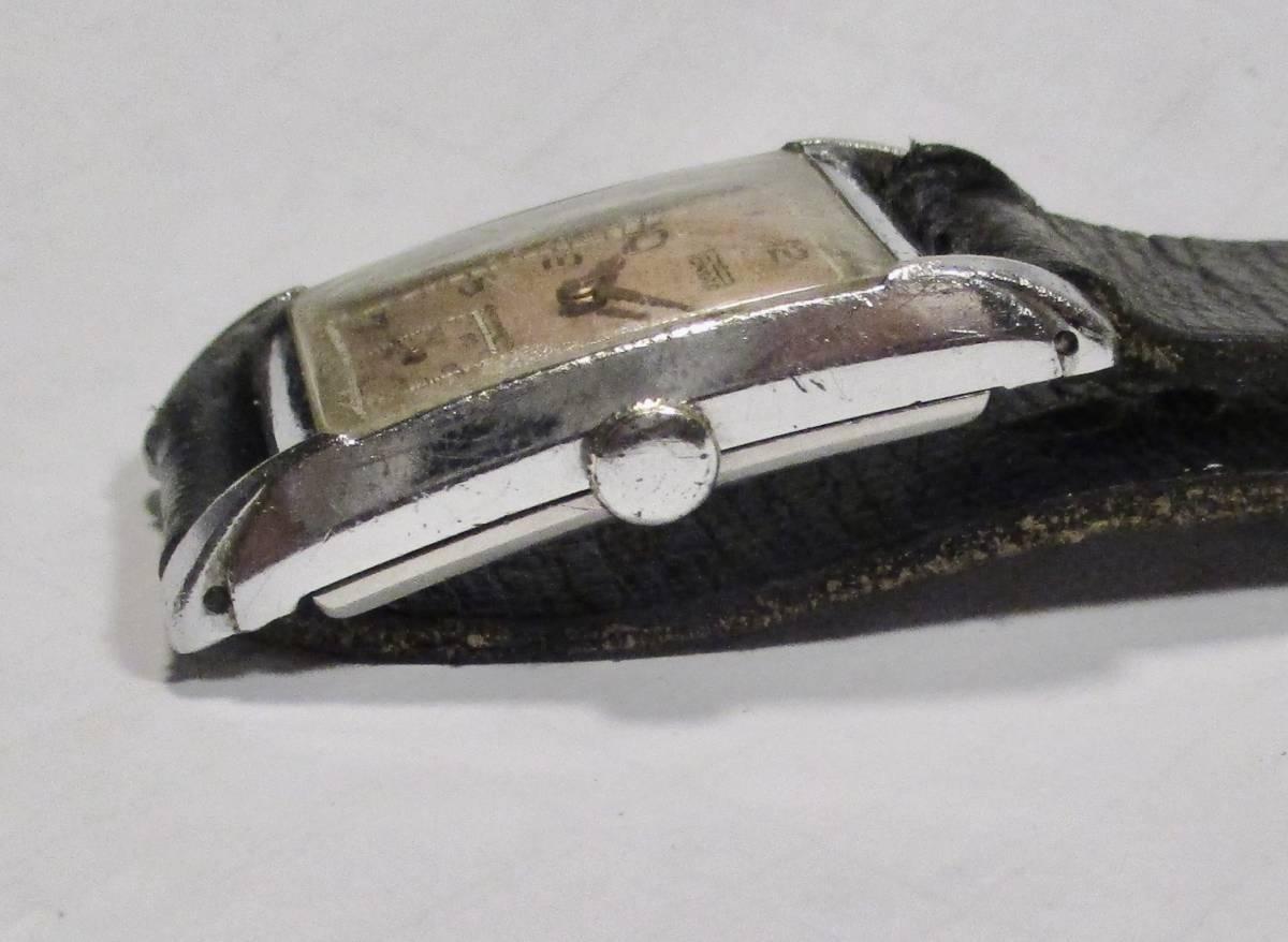 ☆ クロムケース Pontiac 30年代年代 紳士用腕時計_画像4