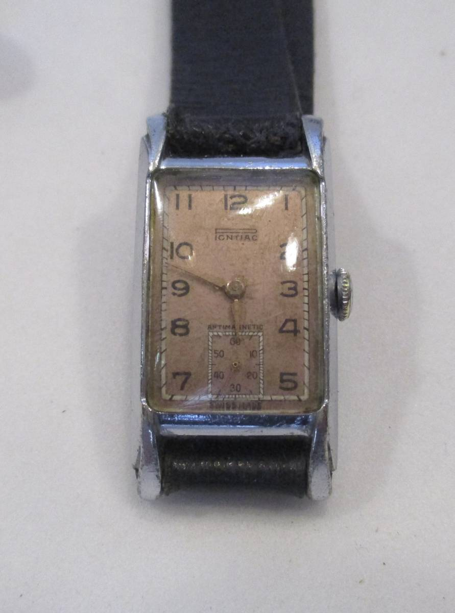 ☆ クロムケース Pontiac 30年代年代 紳士用腕時計_画像2