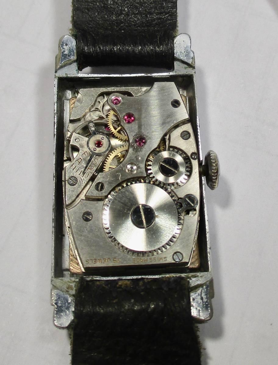 ☆ クロムケース Pontiac 30年代年代 紳士用腕時計_画像5