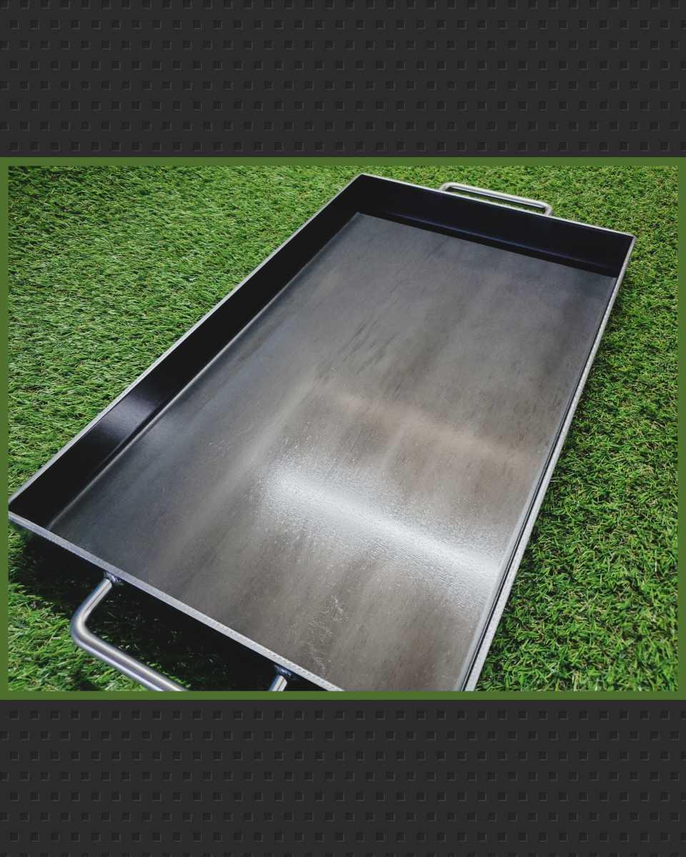 #鉄板焼き、500×300×45×t4.5mm鉄板焼、庭でバーベキュー、煮物、キャンプ、グランピング、