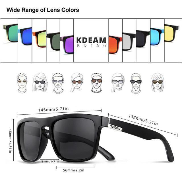新品未使用♪kdeam最新偏光レンズサングラス ブルーミラーレンズ 即購入可!