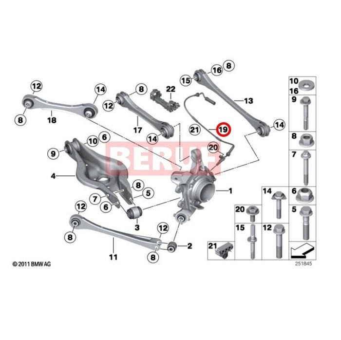 リア スピードセンサー 左右共通 ATE製 BMW 4シリーズ F32 F33 F36 F82 F83 420i 420ix 428i 430i 435i 440i M4 34526869322_画像2
