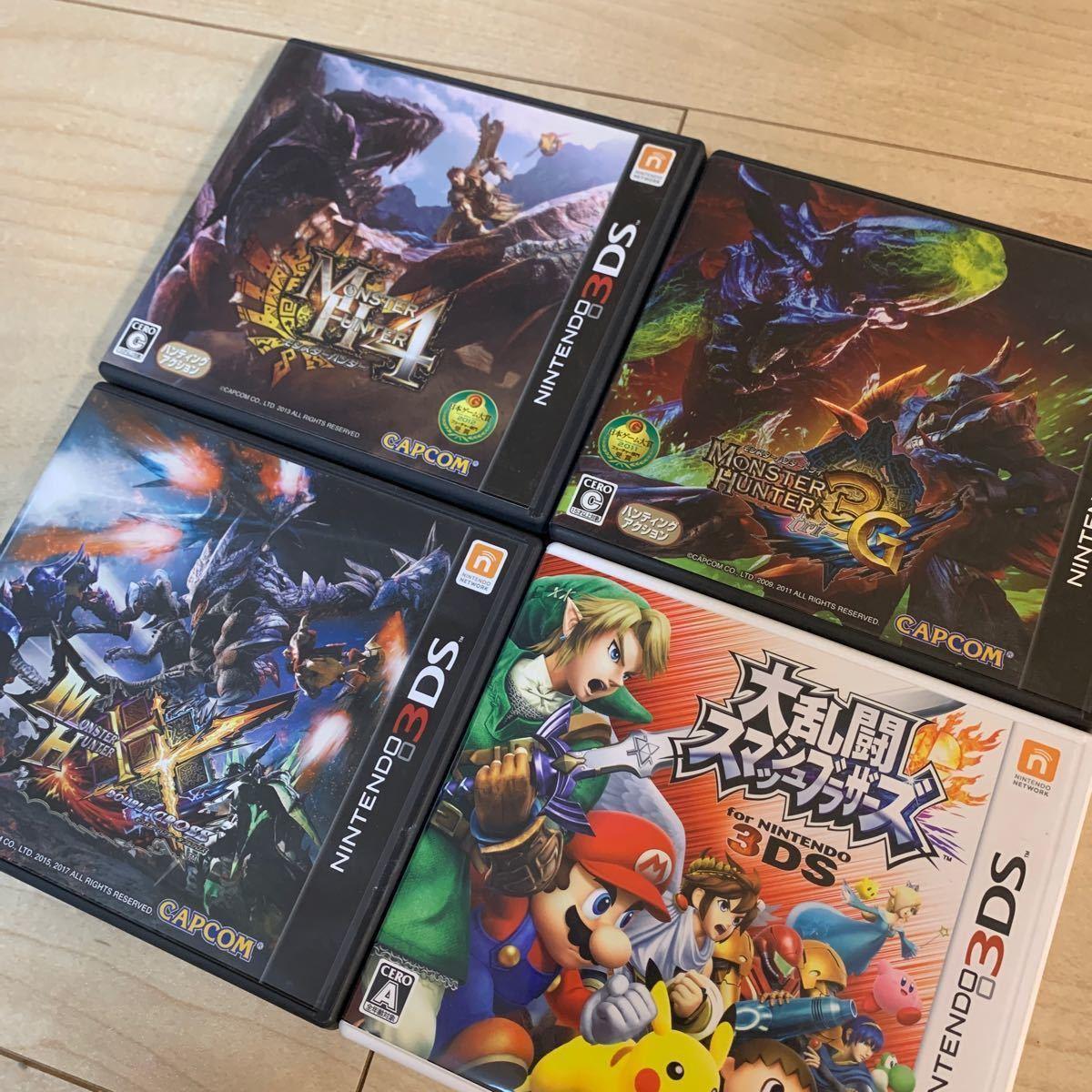ニンテンドー Nintendo 3DSLL  3DSソフト×4  充電器