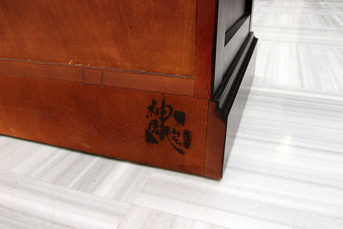 超美品!最高級 北海道 カムイ 神居民芸家具 大型 チェスト 整理箪笥 8段 桐タンス 婚礼家具 検:松本民芸_画像5