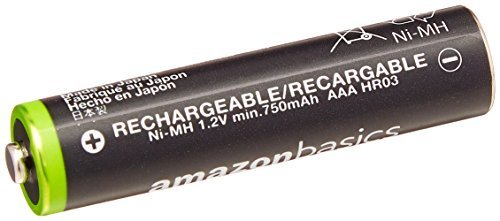 ベーシック 充電池 充電式ニッケル水素電池 単4形4個セット (最小容量750mAh、約1000回使用可能)_画像3