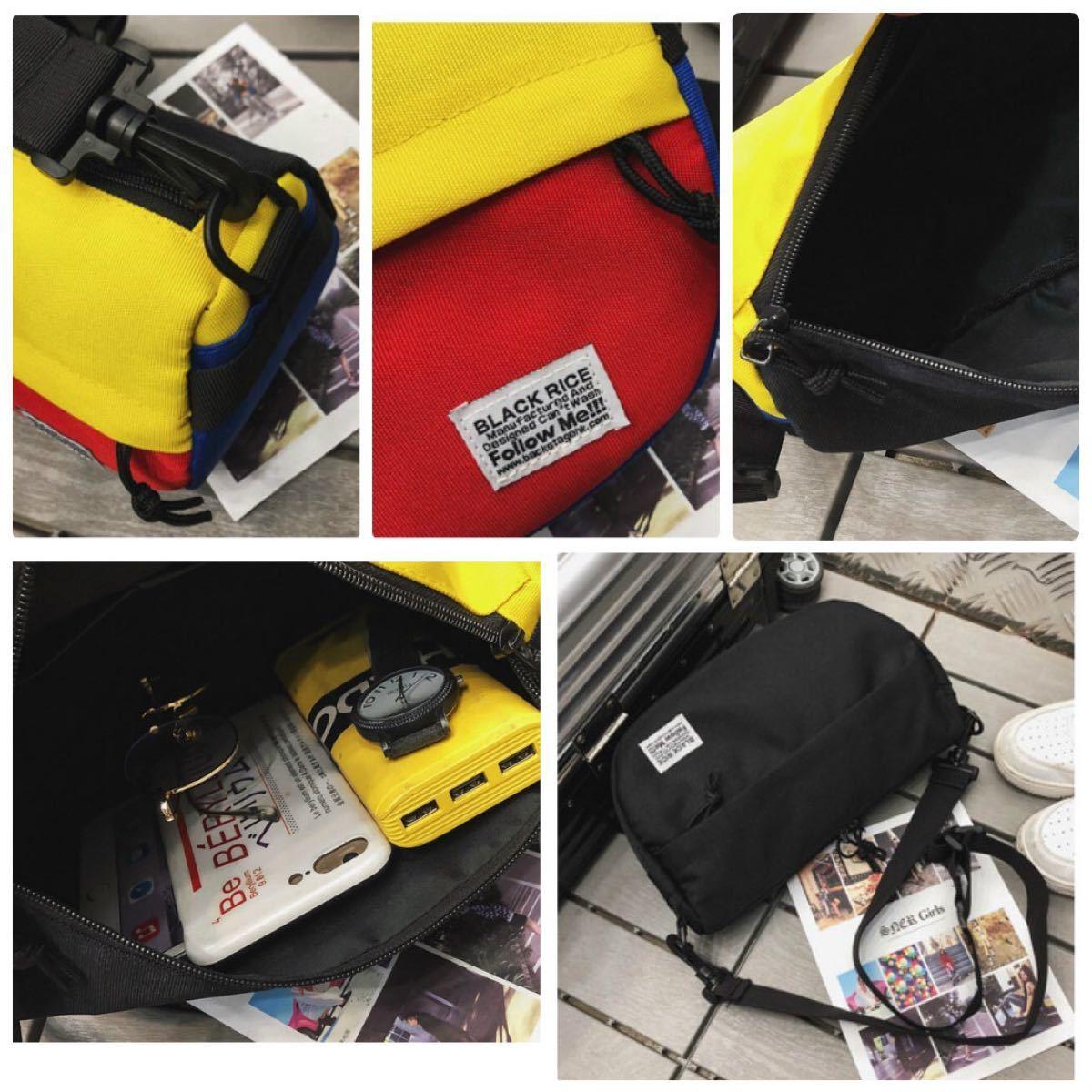 【メッセンジャーバッグ】ブラック 斜め掛け キャンバス カバン ショルダーバッグ ボディバッグ ウエストバッグ 黒 ウエストバッグ