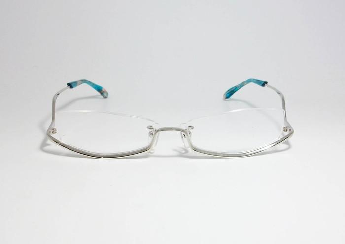 Less than human レスザンヒューマン 眼鏡 メガネ フレーム po6po10 ポルポト C-1010S サイズ55 度付可 逆ナイロール シルバー_画像2