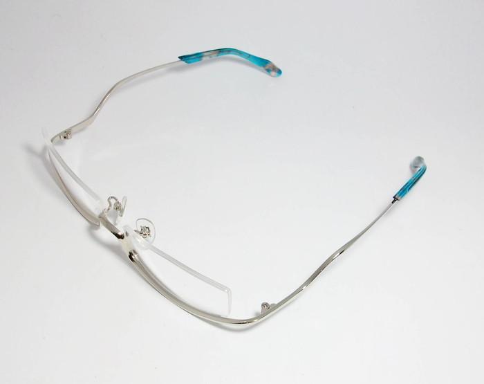 Less than human レスザンヒューマン 眼鏡 メガネ フレーム po6po10 ポルポト C-1010S サイズ55 度付可 逆ナイロール シルバー_画像3