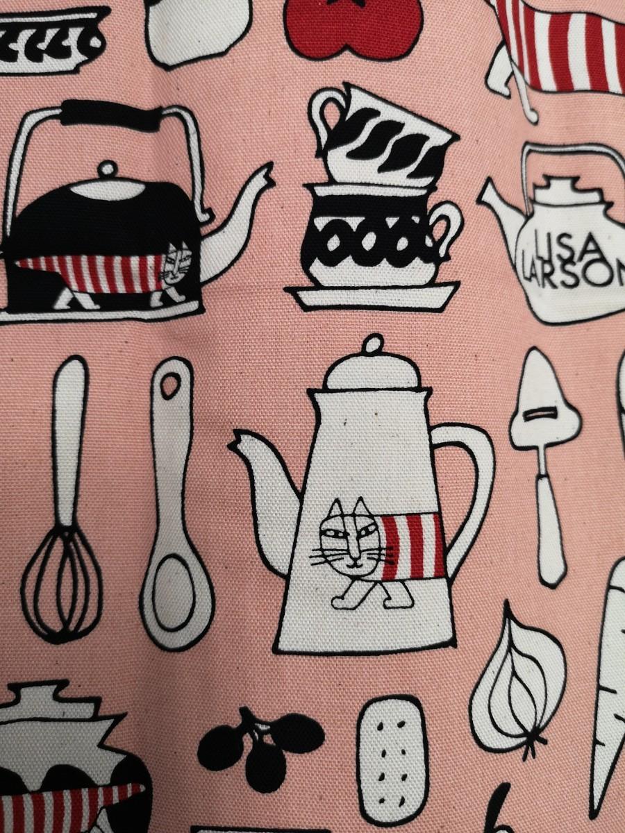 リサラーソン マイキー 生地 最新 ピンク オックス ロゴ 55×50 延長可能