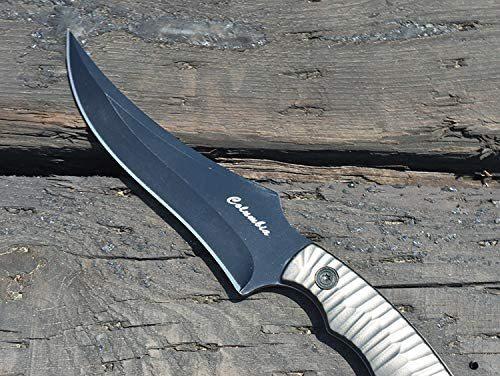 アウトドア用 ナイフ シースナイフ キャンプ 釣り 登山 ブラック