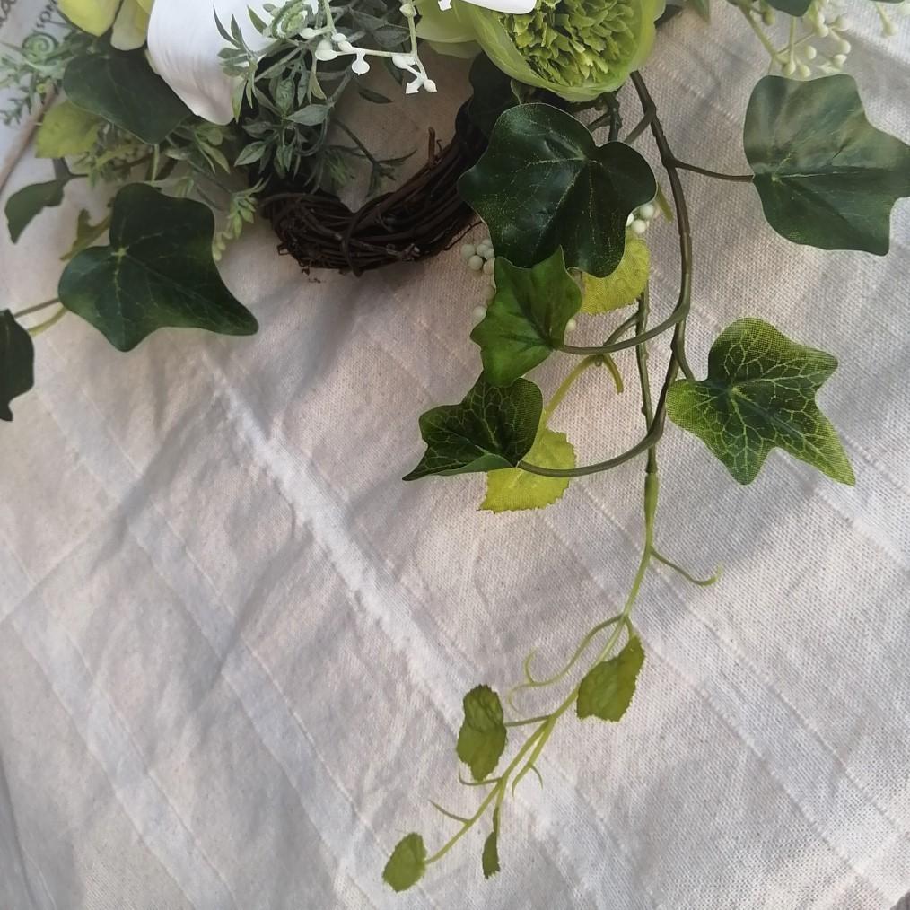 ◆エレガントな大輪のカサブランカのリース◆アーティフィシャルフラワー・造花・壁掛けリース◆花倶楽部_画像5