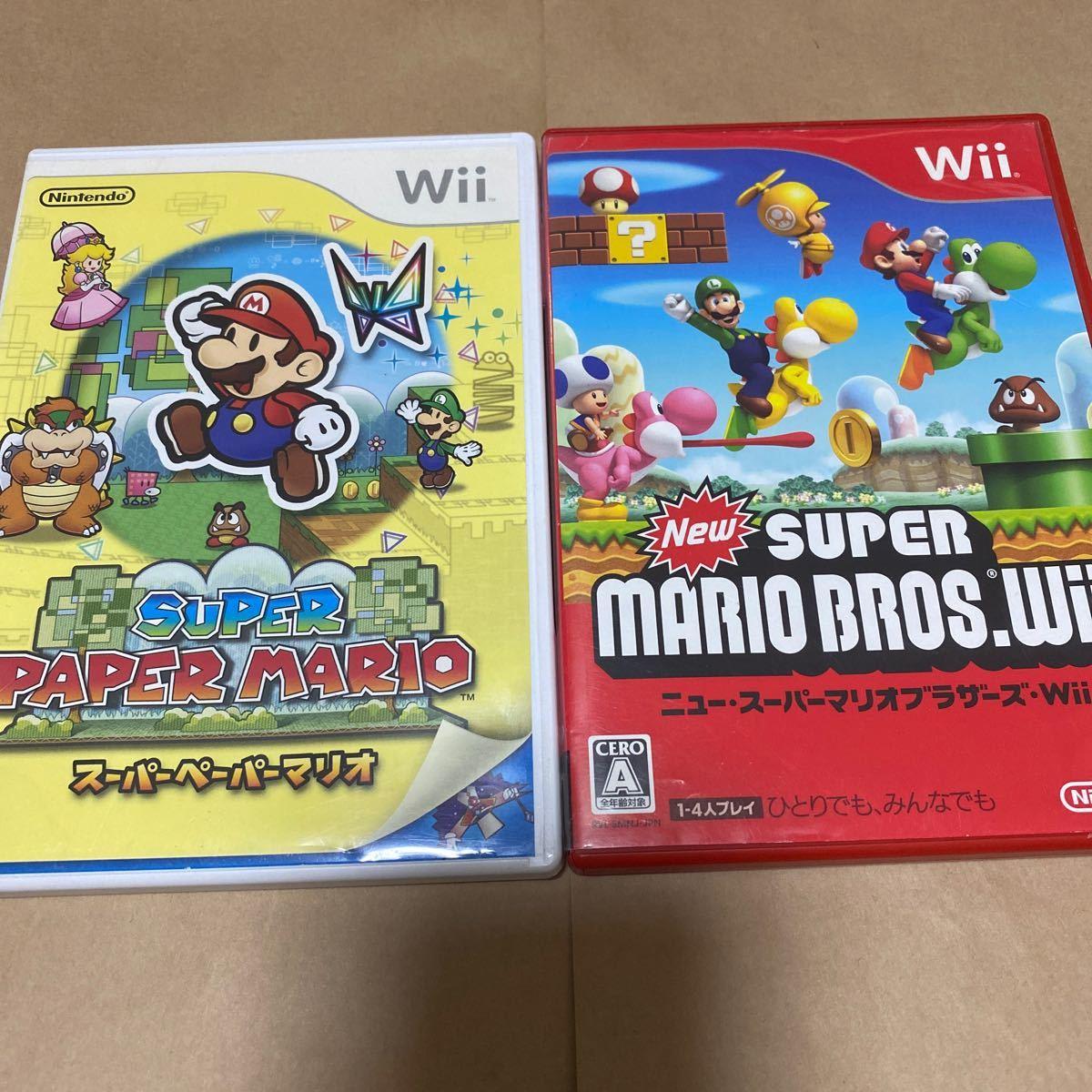 【Wii】 スーパーペーパーマリオとNew スーパーマリオブラザーズ