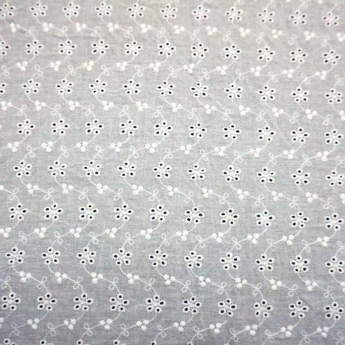 コットンレース生地 綿生地 花柄