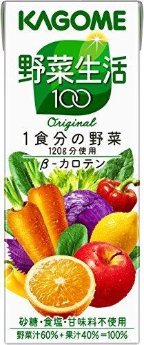 新品低価格/200ml×24本 カゴメ 野菜生活100 オリジナル 200ml×24本_画像1
