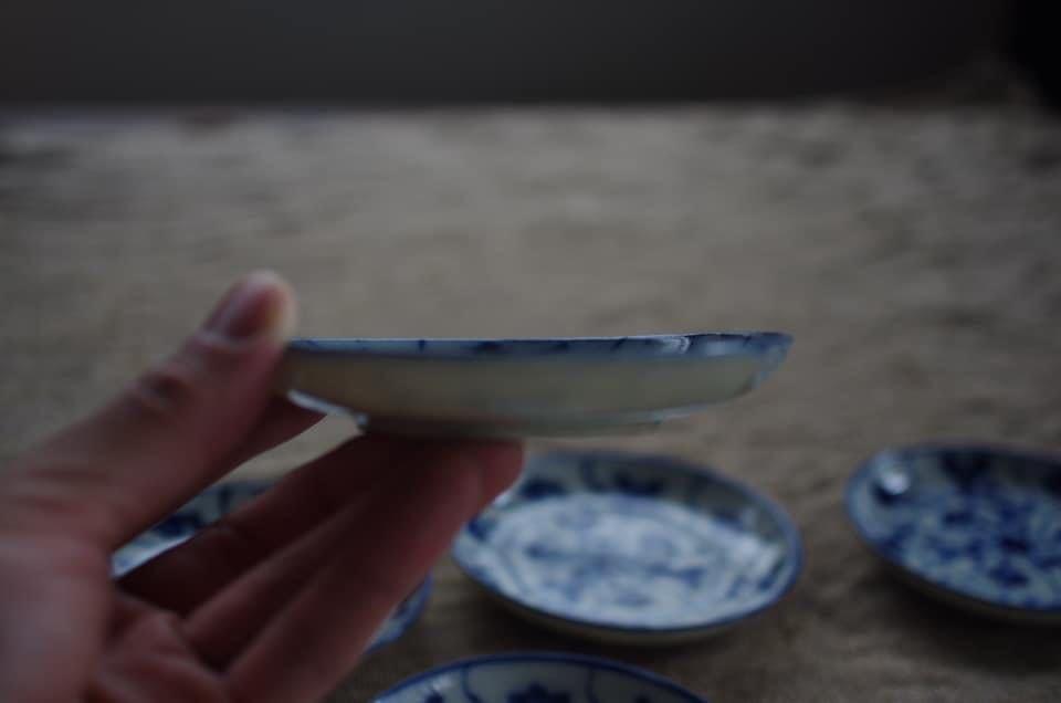 小皿5枚 染付 検索/古伊万里 くらわんか 古染付 印判 _画像6