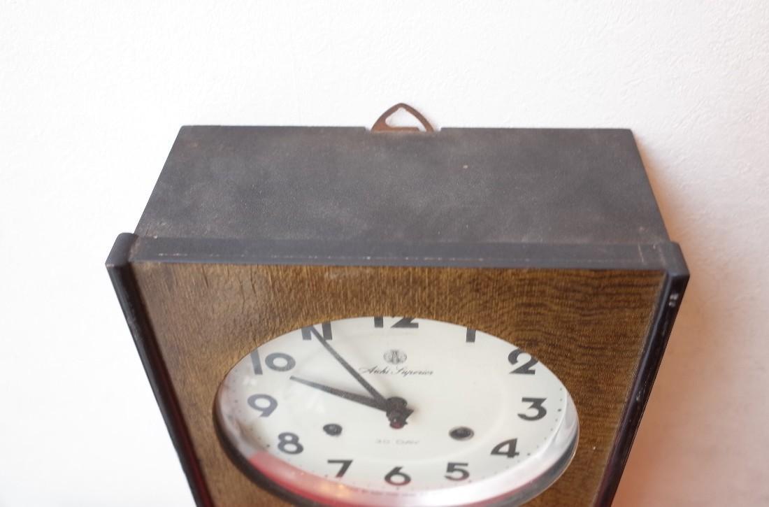 ○愛知時計 手巻き アンティーク振り子時計 日本製 可愛い木製デザイン 稼動品 古道具のgplus広島 2103k_画像4