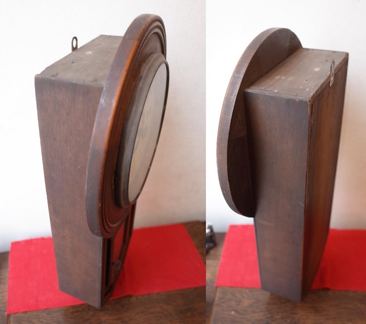 ○手巻き アンティーク振り子時計 日本製 可愛い木製デザイン  古道具のgplus広島 2103k_画像8
