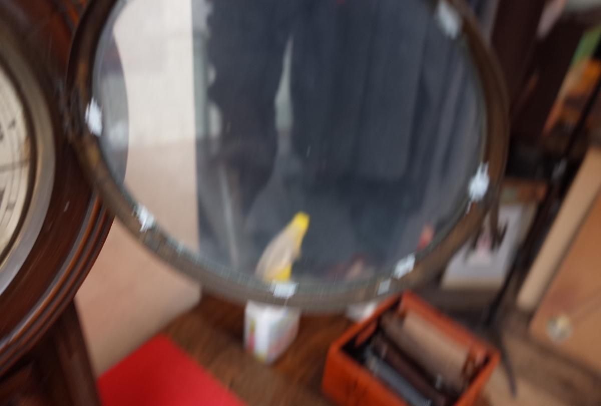 ○手巻き アンティーク振り子時計 日本製 可愛い木製デザイン  古道具のgplus広島 2103k_画像6