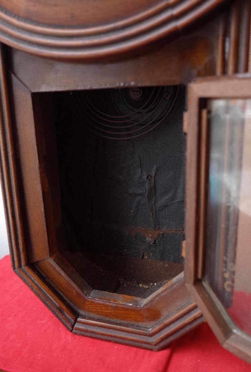 ○手巻き アンティーク振り子時計 日本製 可愛い木製デザイン  古道具のgplus広島 2103k_画像10