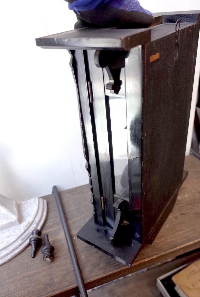 ○シチズン スケルトン 手巻き アンティーク振り子時計 日本製 可愛い木製デザイン 古道具のgplus広島 2103k_画像9