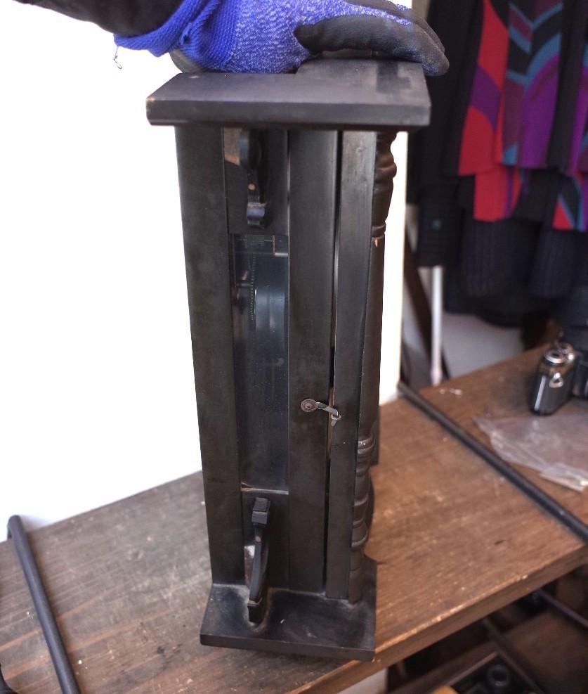 ○シチズン スケルトン 手巻き アンティーク振り子時計 日本製 可愛い木製デザイン 古道具のgplus広島 2103k_画像7