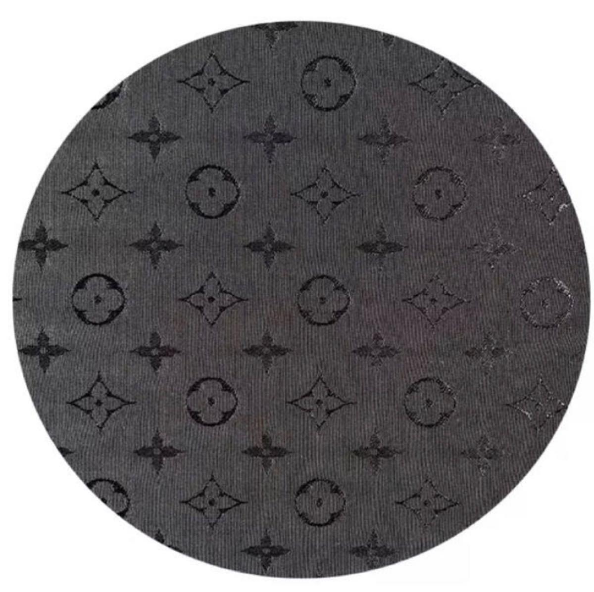 生地 布地 モノグラム柄 ノーブランド 幅約155×50cm  ハギレ  はぎれ