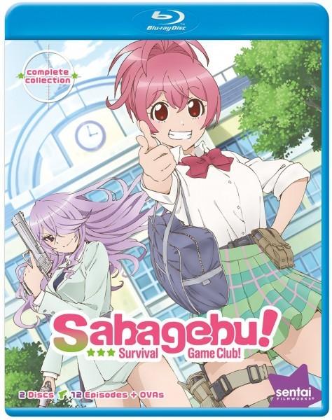 【送料込】さばげぶっ! 全12話+OVA6話(北米版 ブルーレイ) Sabagebu Survival Game Club! blu-ray BD