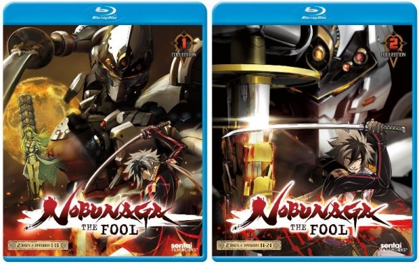 【送料込】2点セット ノブナガ・ザ・フール 1&2 全24話 (北米版ブルーレイ) Nobunaga the Fool Collection 1&2 blu-ray BD