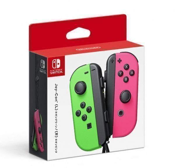 ★即決 新品未開封 送料無料★ Joy-Con ジョイコン 箱入 スイッチ コントローラー ネオングリーン(L)/ネオンピンク(R) Nintendo Switch