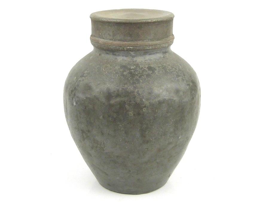 【DIT】 時代煎茶道具 古錫② 大茶壺 茶心壺 1241g