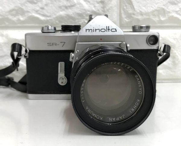 minolta SR-7 ミノルタ SANKYO KOHKI KOMURA f=135mm 1:3.5 動作未確認 一眼レフ カメラ レンズ 中古 fah 3Y160S_画像2