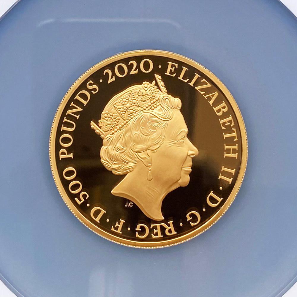 2020 英国 伝説のミュージシャン エルトン・ジョン 500ポンド 金貨 5オンス プルーフ NGC PF 70 UC 最高鑑定 完全未使用品 元箱付_画像4