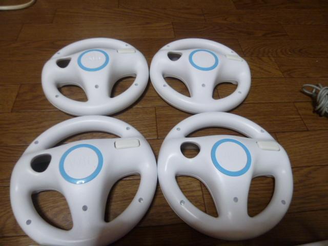 WH52【送料無料 即日配送 動作確認済】Wii 4人ですぐに遊べるセット マリオカート ハンドル Wiiパーティー マリオブラザーズ はじめての